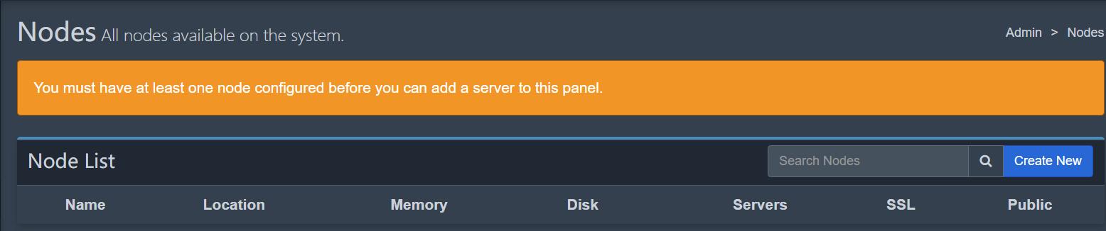 只配置了面板是无法新增服务器的