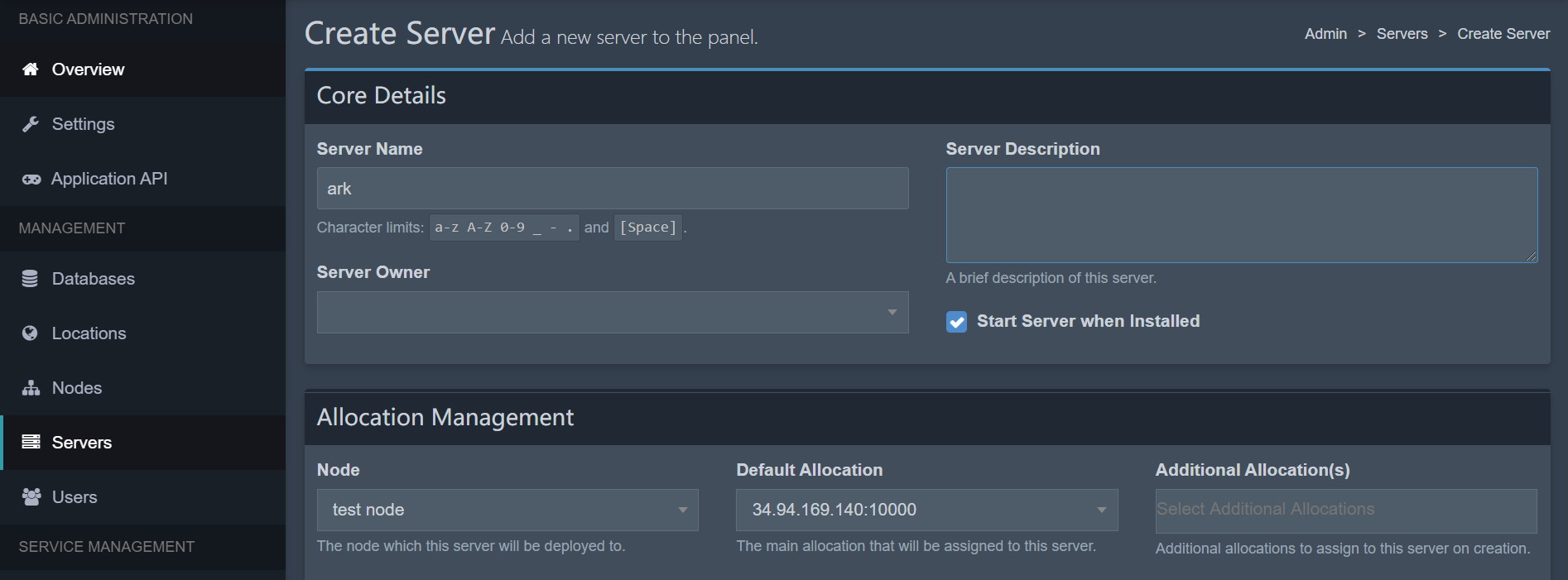 添加server
